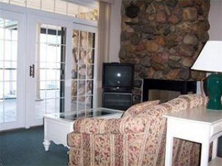 Stone Fireplaces, balcony doors to wrap around balcony - Shanty Creek Legend Cottages - Bellaire - rentals