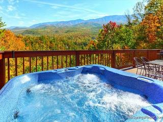 A Postcard View of the Mountains from this 2 Bed 2 Bath 2 Jacuzzi Cabin - Gatlinburg vacation rentals