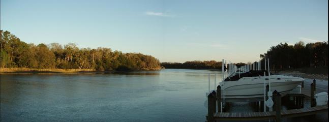 Canopy Walk at dusk - Beautiful Waterfront Canopy Walk Condo! - Palm Coast - rentals