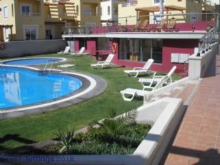 Always plenty of loungers by the pool and spa - Fabulous Sea Views at Marina Golf Villa and Spa. - Caleta de Fuste - rentals