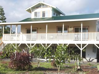 plantation/fusion syle home w birdseye jungle view - Pahoa vacation rentals