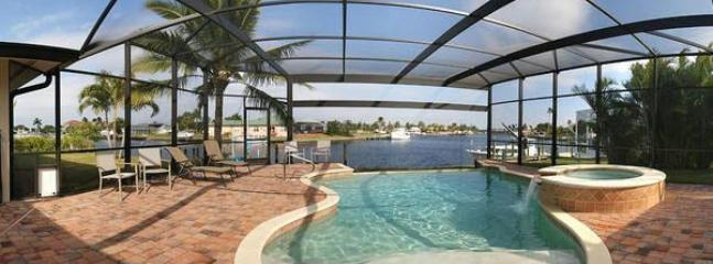 Pool/Spa - water view - Best view in Cape Coral - sailboat access to Gulf - Cape Coral - rentals