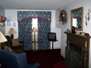 Living Room with Queen Sleeper Sofa and HDTV - #309 - Oak Square -1Bedroom Condo with Jacuzzi - Gatlinburg - rentals