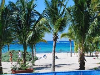 STEP OFF YOUR PATIO TO A SANDY BEACH. - Cozumel vacation rentals