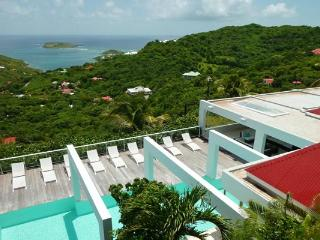 Hillside villa with a sprawling view over countryside & ocean WV JNM - Camaruche vacation rentals