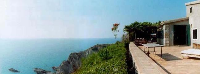 Front Terrace - CLIFF HOUSE -   Eagle's Nest on the Mediterranean - Capo Vaticano - rentals