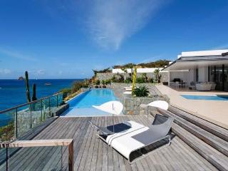 Full ocean view with sun all day- 2 separate buildings comprise this villa. WV ROX - Gustavia vacation rentals