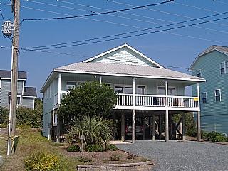 Outside Front - Vitamin Sea, 1331 S Shore Dr - Surf City - rentals