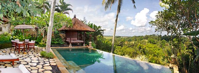 Ria Sayan Valley View from Pool - Ubud Bali Romantic Villa - Valley Views Ria Sayan - Ubud - rentals