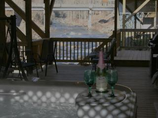 1Br HOT TUB 10ft above River FIRE PLACE 16x40 DECK - Bat Cave vacation rentals