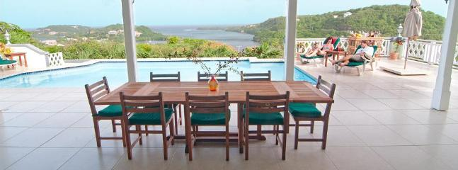 Patio with Dining Table - Luxury private Villa  with stunning Atlantic - Saint George's - rentals