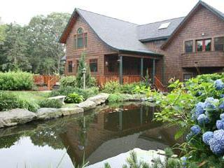 House view from Koi Pond - Kismet~Shingle Style Home w/Koi Pond and Pool - Jamestown - rentals