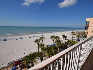 Sand Castle II 2505 Gulf Front 3 bedroom 2 bath  - Pool, Spa, BBQ & WiFi - Redington Beach vacation rentals