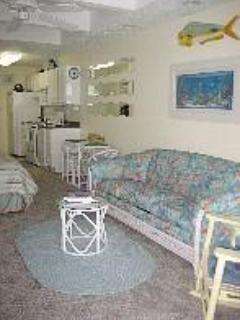 Beautifully Appointed Living Room with Queen Sleeper Sofa - Ocean City Condo Close to the Ocean Great View - Ocean City - rentals