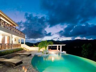 VICTORIA...3 BR affordable St Martin rental villa, panoramic views - Oyster Pond vacation rentals
