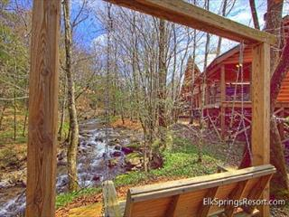 Cabin on the Creek!  4 Bedroom Luxury Cabin with outdoor fireplace! - Tennessee vacation rentals