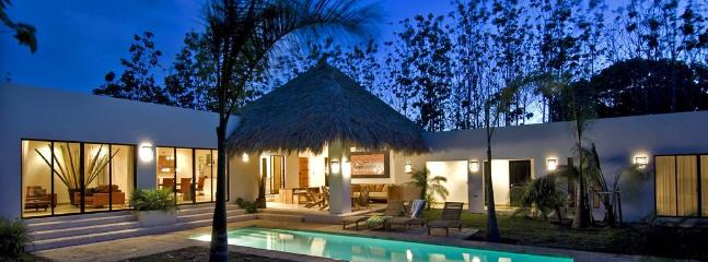 poolside by night - Private  Modern Villa TAMARINDO- HACIENDA PINILLA - Tamarindo - rentals
