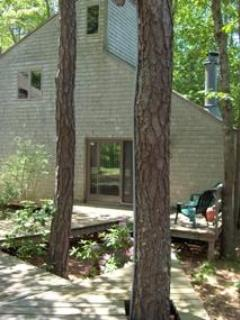 Front deck, main entrance - Best Price on Cape Cod - Wellfleet - rentals