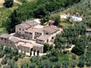 Aereal view of the farmhouse - I Greppi di Silli Tinaia - San Casciano in Val di Pesa - rentals