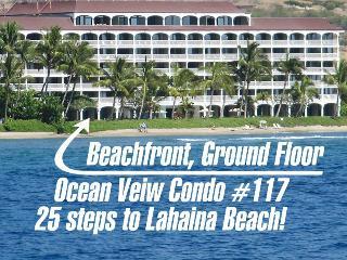 BEACH AT THE DOOR! Ground Floor,  Ocean View Condo - Lahaina vacation rentals