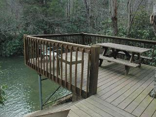 At Creek Bend Escape you can Fish Right Out Your Back Door! - McCaysville vacation rentals