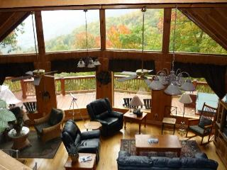 Smoky Sunrise log home overlooking Maggie Valley - Balsam vacation rentals