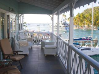 Waterfront location with stunning view...St. Lucia - Marigot Bay vacation rentals