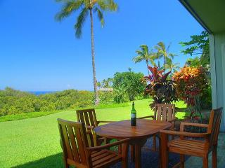 Scenic ocean and mountain views, spacious ground level 2br/2ba with yard - Princeville vacation rentals