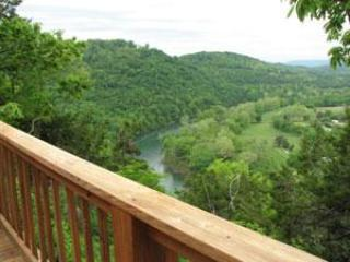Deck View - Can U Canoe Cabin 106 - Reel Em Inn - Eureka Springs - rentals