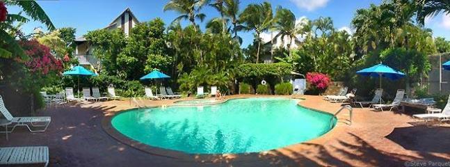 Waikomo Stream Pool with Tennis Court - Poipu Beach, Kauai, Hawaii, Lush Garden Setting - Poipu - rentals