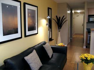 Living area looking towards front door - Walk to Conference Centre-Free Wi-Fi & Parking - Victoria - rentals