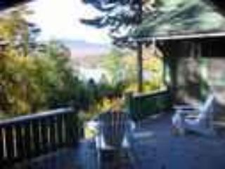 view from the front porch - Camp Wauhkin, LLC, Lake Placid, NY - Lake Placid - rentals