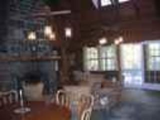 old fashioned luxury, massive fireplace, cathedral ceiling - Camp Wauhkin, LLC, Lake Placid, NY - Lake Placid - rentals