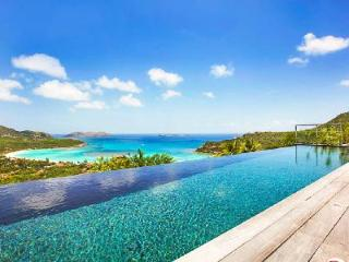 Dazzling  Isa Villa with infinity pool and sundeck overlooking the bay - Saint Barthelemy vacation rentals