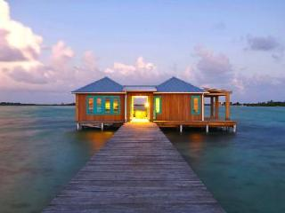 Intimate over-the-water bungalow Casa Ventanas 150 ft off island with glass floor - Belize Cayes vacation rentals