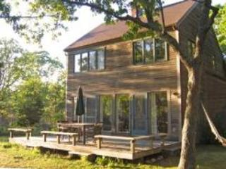 Front of house situated on 3 private wooded acres - W. Tisbury:Private, Bright, Airy retreat on 3 acr. - West Tisbury - rentals