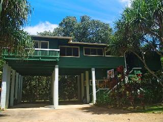 Beautiful Haena home within a gated estate, sitting high above Wainiha stream - Hanalei vacation rentals