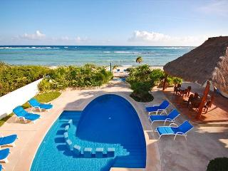 2 bedroom beachfront condos with good sized pool.  WiFi, Air Con, Sat TV! - Akumal vacation rentals