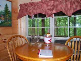 """""""Lovey Dovey""""  cozy log cabin- unsurpased privacy. - Asheville vacation rentals"""