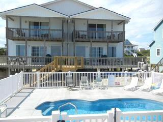 DUNE BOYS Oceanfront duplex/pool/pets ok/ 8 aside - Emerald Isle vacation rentals