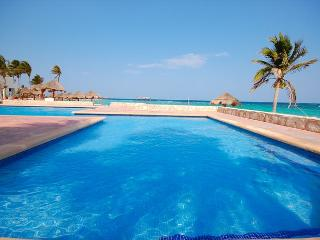 Cute and romantic, beachfront, Studio 001, Aventuras Akumal. Akumal Direct. - Akumal vacation rentals