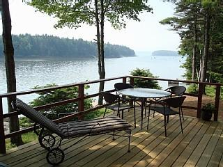 Deck for dining & lounging - Waterfront House - Harpswell - rentals