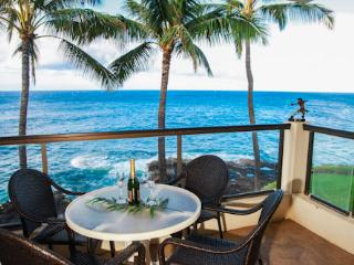 Poipu Shores 303A OceanFRONT Elegance, 2BR/2BA, AC in MBR, Heated Pool. - Poipu vacation rentals