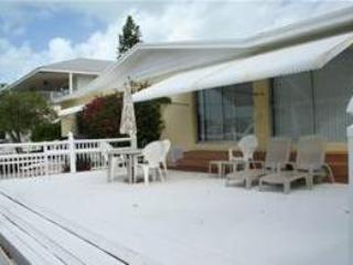 Back yard and deck. - Tray's Treasure, open living area,  # 105 - Key Colony Beach - rentals