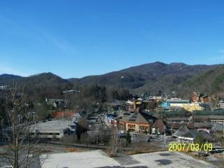 Balcony with View of Downtown Gatlinburg - #304 - Gatlinburg Chateau - 2 Bedroom Condo - Gatlinburg - rentals