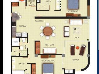 Luxury 2 BR 2.5 BA  Beach Condo $2,900 USD monthly - Mexican Riviera-Pacific Coast vacation rentals