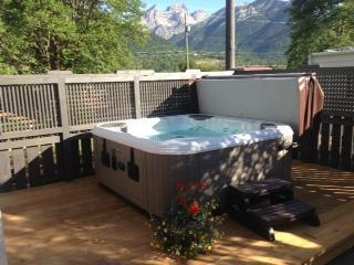 Relaxing Hot tub with view of Three Sisters - Fernie Heritage Home - Fernie - rentals