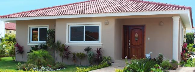 A magnificent two bedroom villa with a well- equipped granite kitchen. Come and spend an unforgettable time on the outside pool chairs next to the large pool watching the view of an azure sky and colorful yards of Dominican Republic!(612) - Image 1 - Cabarete - rentals