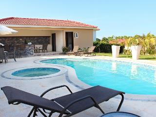 Professionally decorated villa w/ covered BBQ and bar area beside the pool! - Sosua vacation rentals