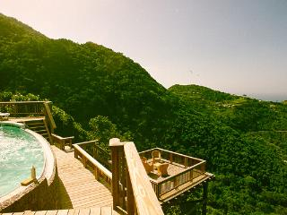 Luxurious mountain hideaway at the top of Troy Hill in the middle of the rainforest- beautiful ocean view to boot! SAB HKU - Saba vacation rentals